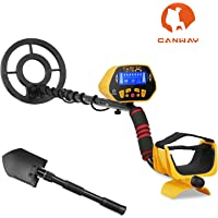 CANWAY Metal Detector with Pinpoint Function, Professional High Accuracy Gold Digger for Kids and Adults. Detect 3 Feet Deep Plus Shovel/Pickaxe and Bags GC-1028