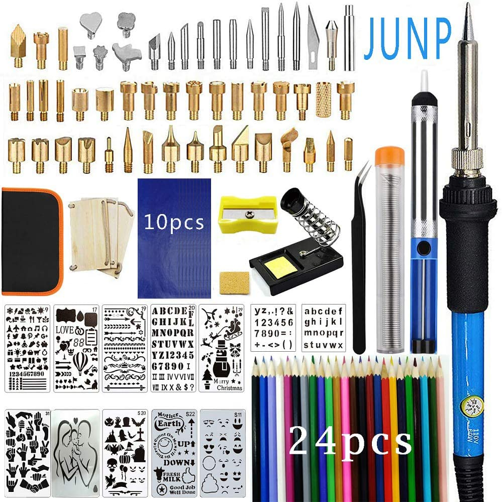 Embossing//Carving//Soldering Tips//Carry C Wood Burning Kit,82/PCS Adjustable Temperature Soldering Pyrography/Wood Burning Pen