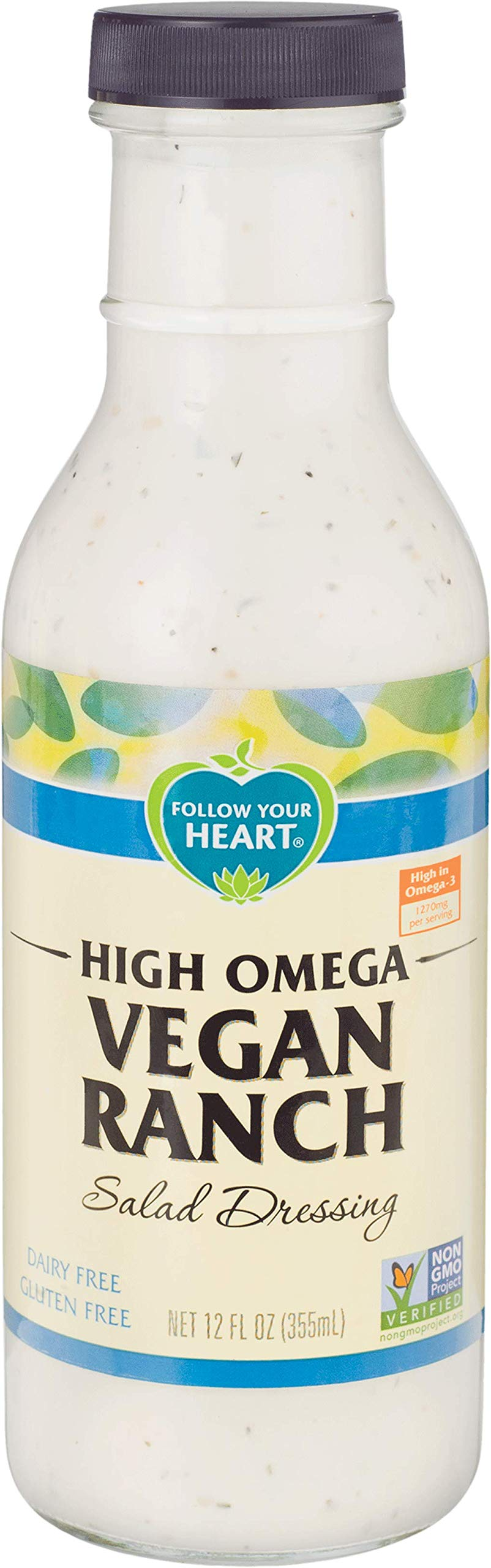 Follow Your Heart Dairy Free, Non-GMO High Omega Vegan Ranch 12 ounces (Pack of 6) by Follow Your Heart