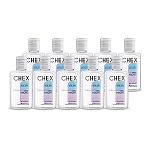 Chex Hand Sanitizer 70% Alcohol, 10x60ml, Ultra Broad Spectrum Germ Kill
