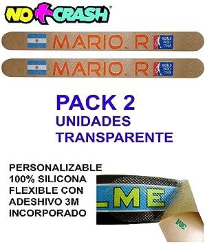 No+Crash Protector 100% Transparente Flexible Muy Resistente DE Silicona Pack 2 Unidades: Amazon.es: Deportes y aire libre