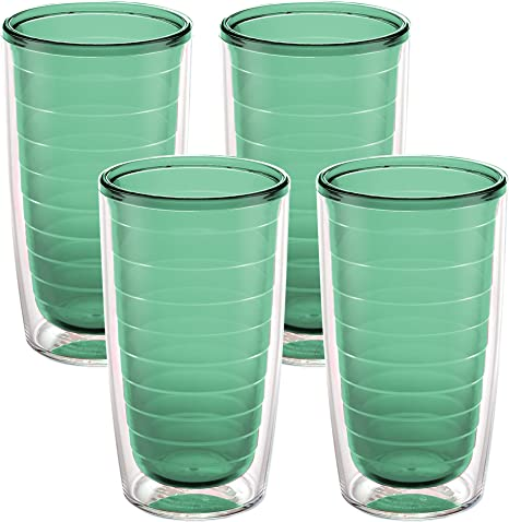 4 Pack  Tervis Clear /& Colorful Insulated Tumbler Boxed 16oz