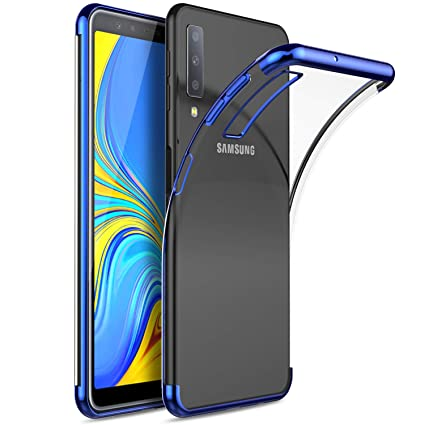Samsung Galaxy A7 2018 Case, Ku Gi Ultra Thin Soft Tpu Gel Cover [Slim Fit] [Anti Scratch] [Shock Absorption] For Samsung Galaxy A7 2018 Smartphone.Blue by Ku Gi
