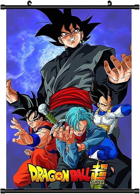 Vanessa Dragon Ball Z Anime Super Saiyan Goku Fabric Wall Scroll Poster Printings 2 Amazon Ca Home Kitchen