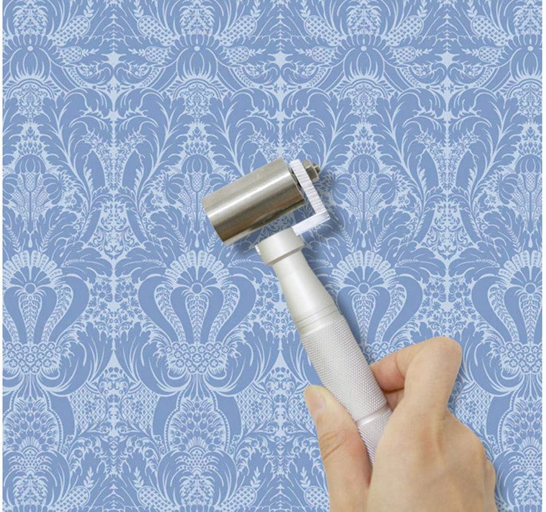 Lheng Metal Hand Stainless Steel Wallpaper Seam Roller Smoothing Laminate Decorating Tools 34mm