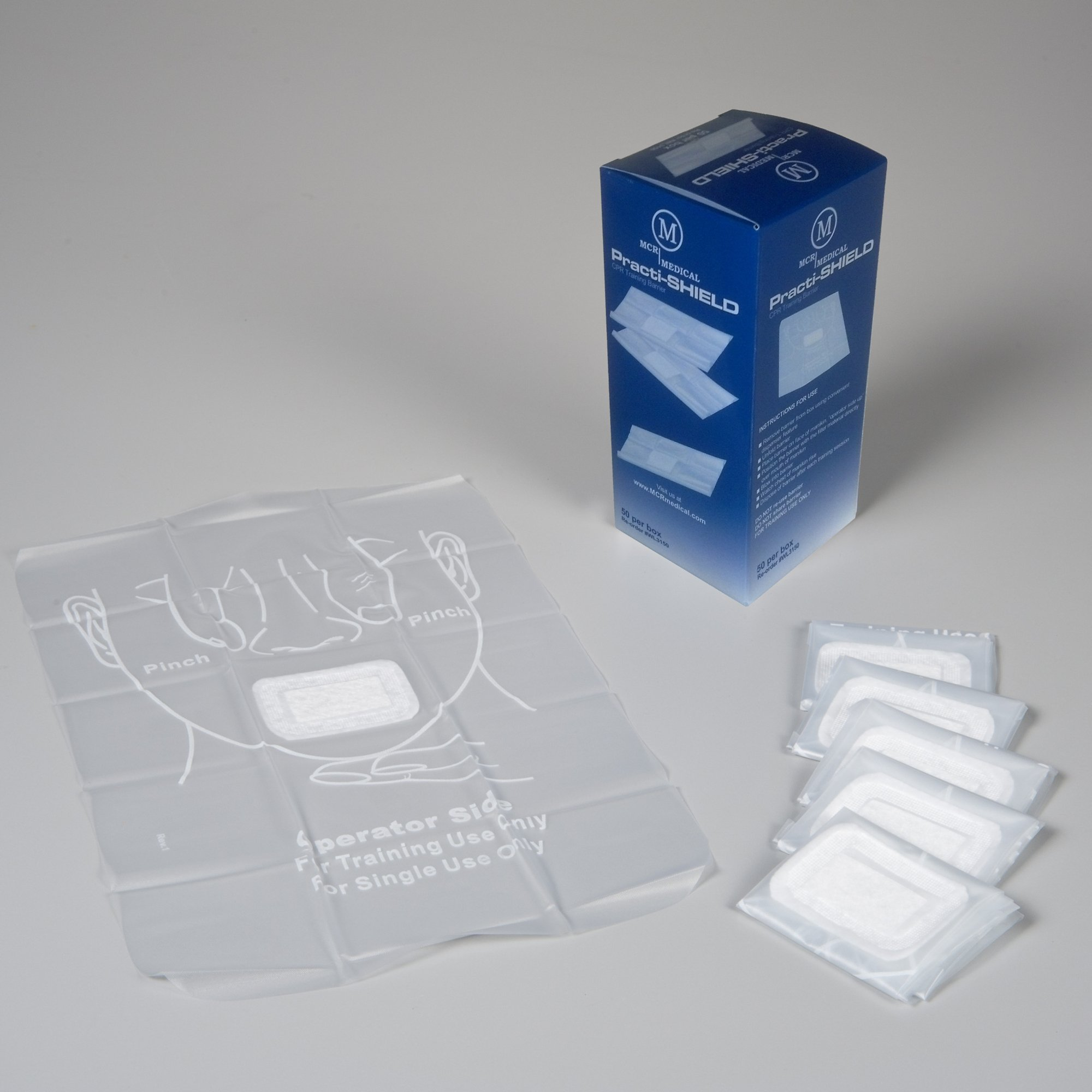 WNL Safety Products WL3150 Practi-Shield CPR Training Shields,(Box of 50)