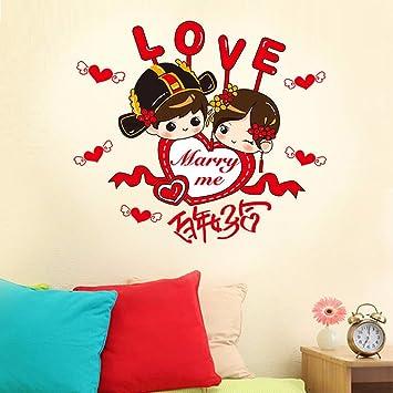 China Wind Wand Sticker Hochzeit Dekoration dekorieren Schlafzimmer ...