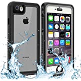 Owkey iPhone 6/6S Waterproof Case, Underwater Snowproof Dirtproof Shockproof IP68 Certified with Touch ID Full Sealed Cover Waterproof Case for iPhone 6/6S - 4.7in (Clear)