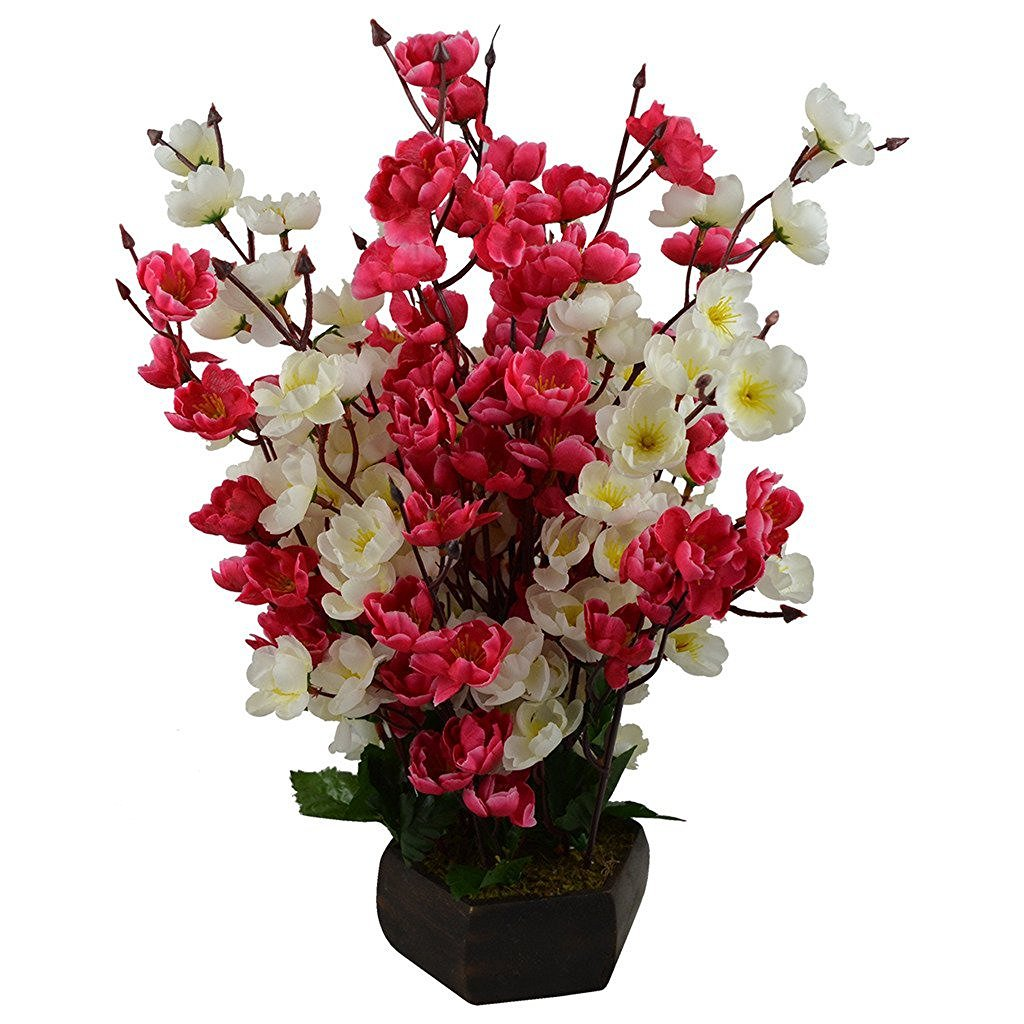 Artificial flowers buy artificial flowers online at best prices in hyperboles bonsai blossom artificial flowers with wooden pot17inch mightylinksfo