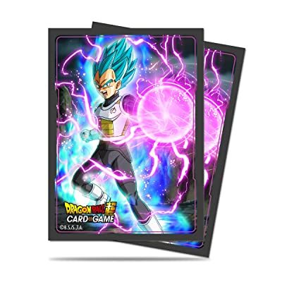 Ultra Pro Official Dragon Ball Super God Charge Vegeta Standard Deck Protector Sleeves (65ct): Toys & Games