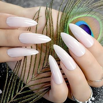 Point Z751 - Pinzas de uñas artificiales extralargas, color natural: Amazon.es: Belleza