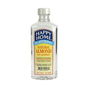 Happy Home Natural Almond Flavoring, Non-Alcoholic, Certified Kosher, 8 oz.