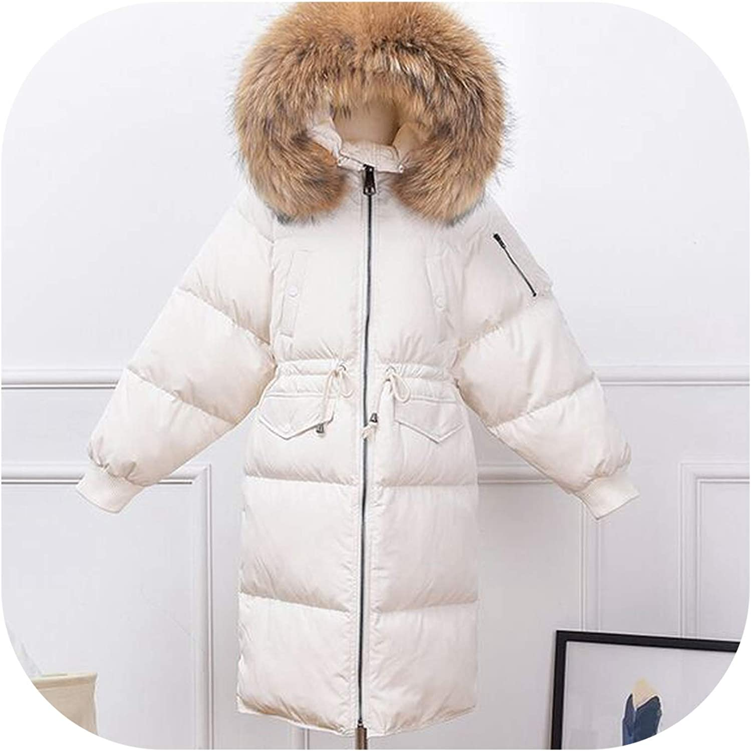 Womens Parka With White Fur