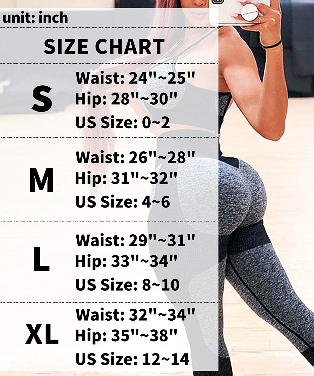 Murandick Seamless Workout Leggings for Women High Waisted Yoga Pants Butt Lifting Gymshark Tummy Control Commpression Tights