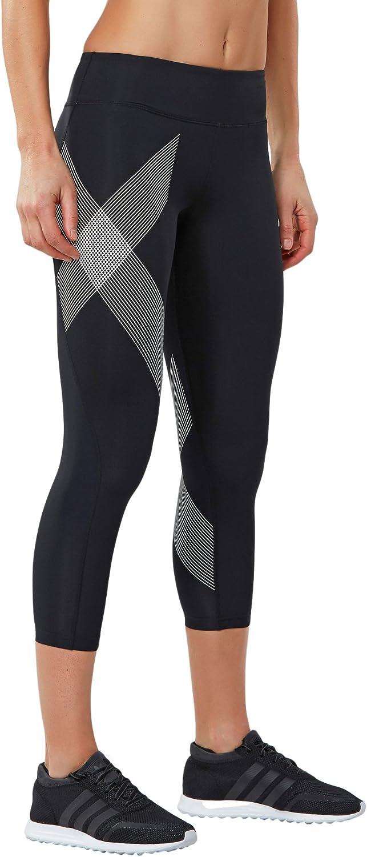 2XU Mid-Rise Womens 7//8 T-Shirt Collant Course /à Pied Collants SS16