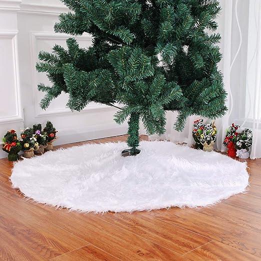 Sotoboo - Falda de Piel sintética para árbol de Navidad, Color ...