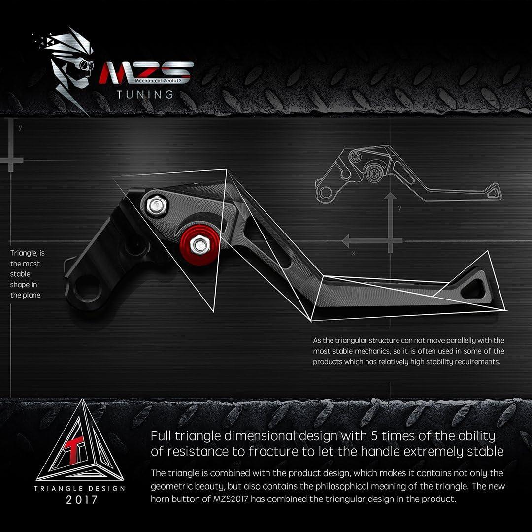 MZS Adjustment Brake Clutch Levers for Yamaha YZF R1 2009-2014 Black