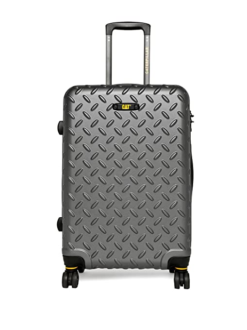 1be9ddd5b2b6 CAT Industrial Plate ABS 54 cms Iron Grey Hardsided Cabin Luggage  (83552-178)