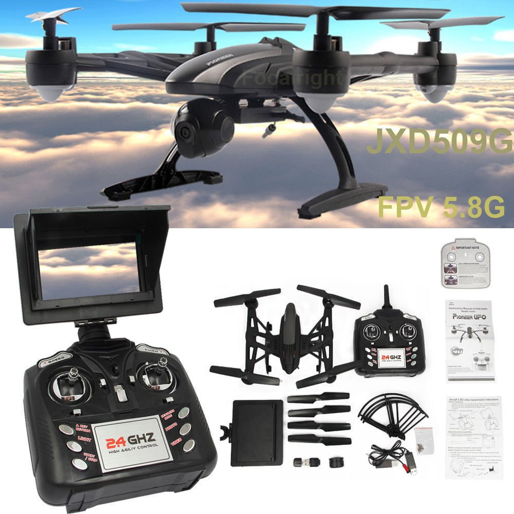 JXD 509G 5.8G FPV with 2.0MP HD Camera High Hold Mode Headless ...