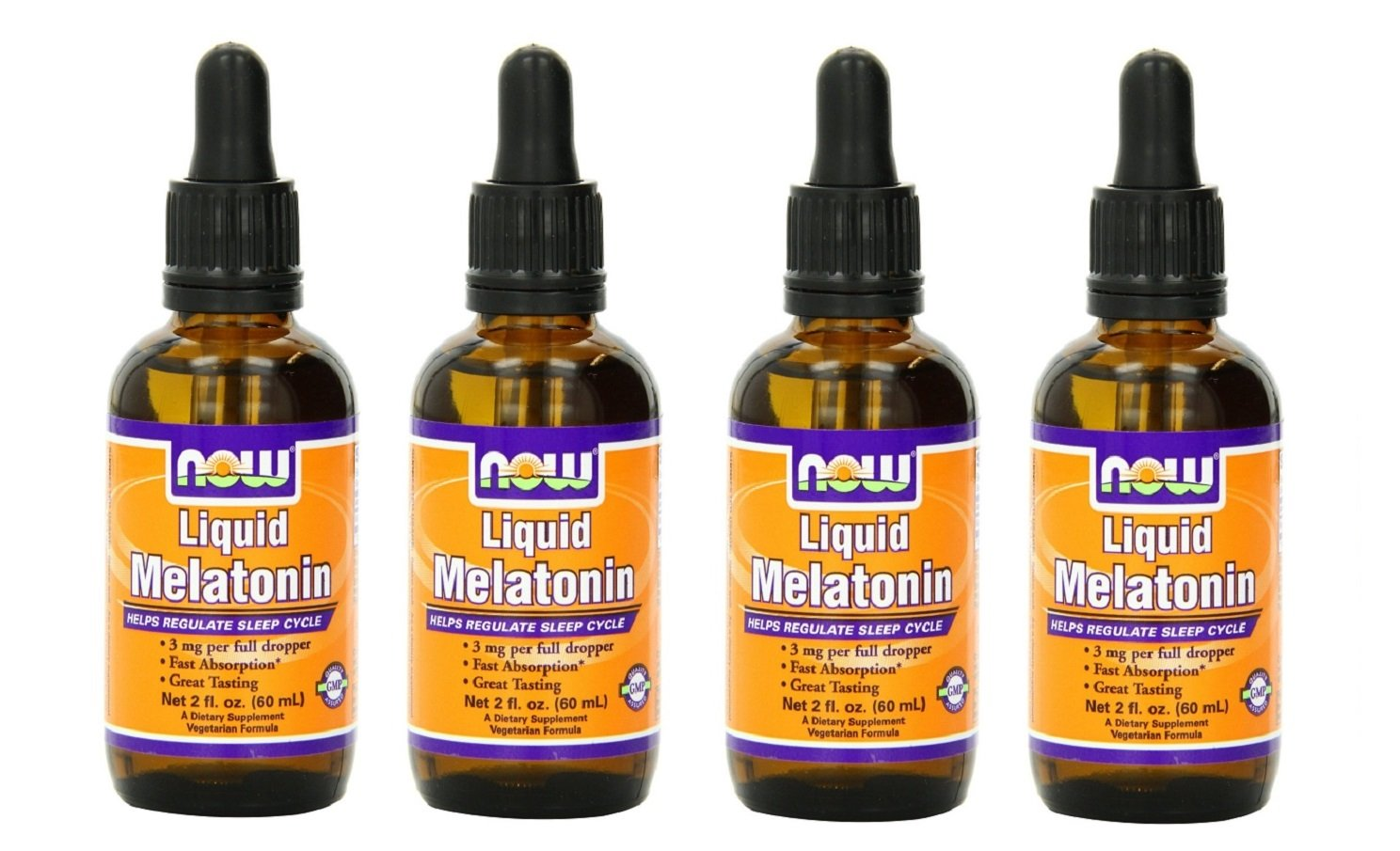 Amazon.com: Liquid Melatonin 3mg (Pack of 4) Now Foods 8 oz. (4 x 2 oz.) Liquid: Health & Personal Care