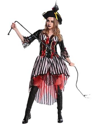 Amazon.com: Disfraz de pirata para disfraz adulto Halloween ...