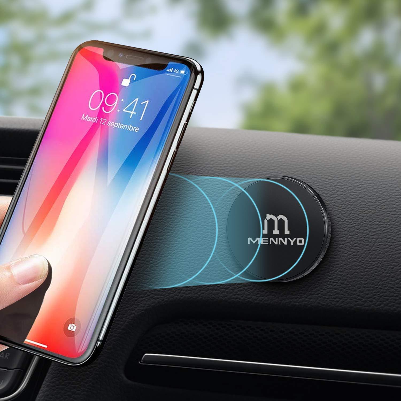 Pared Conjunto de 2 Soporte m/óvil para coche con L/áminas Met/álicas pegado al tablero etc. Iman coche movil MENNYO Soporte movil coche magn/ético Compatible con iPhone Samsung Galaxy // Note Huawei