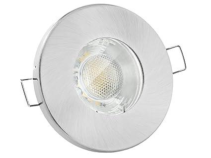linovum Feuchtraum LED Einbaustrahler 3W flach IP65 gebürstet mit ...