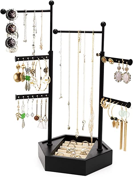 Creative Jewelry Organizer Display Earring Necklace Holder Ring Display Stand