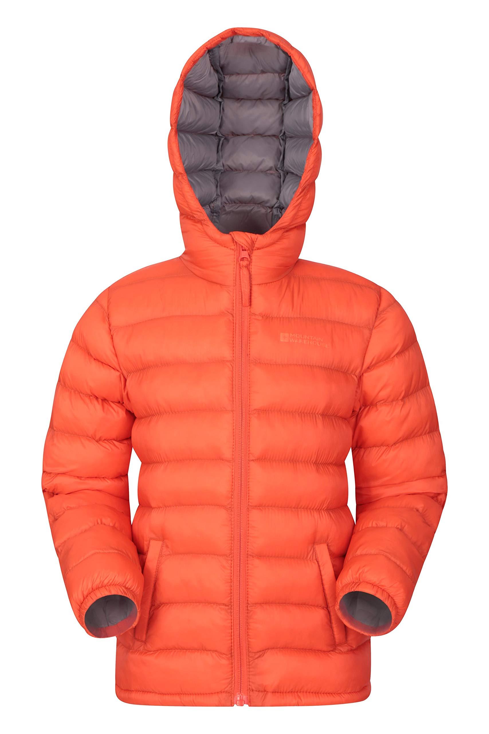 Mountain Warehouse Seasons Boys Jacket - Kids Autumn Rain Coat Orange 7-8 Years by Mountain Warehouse