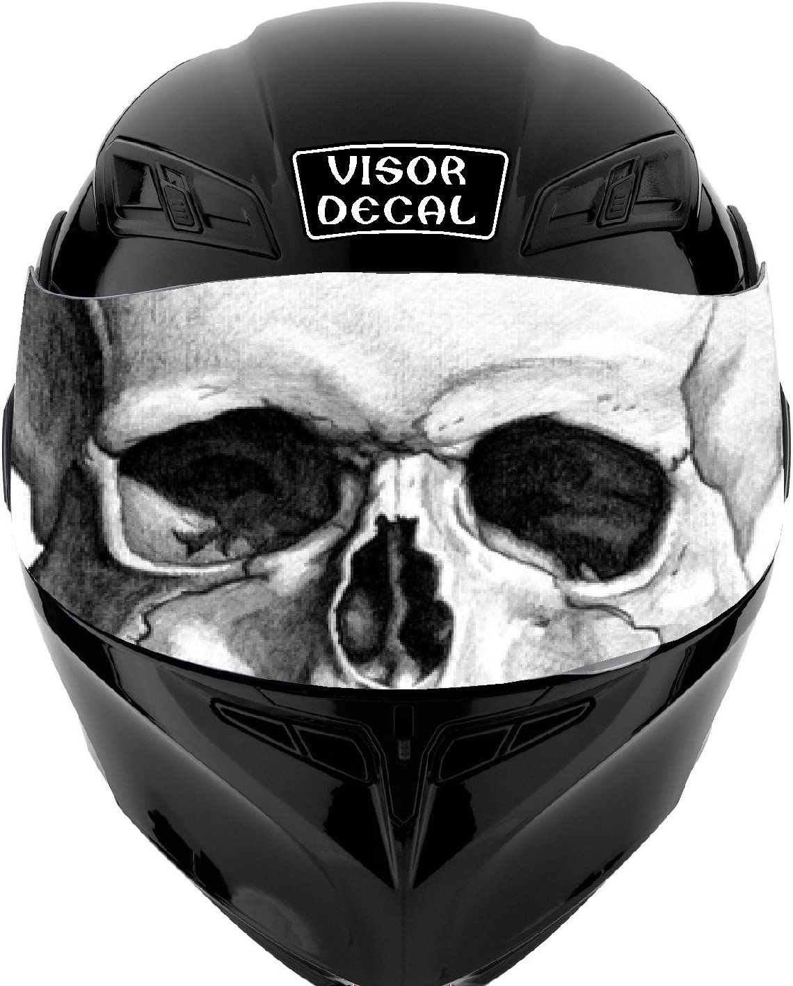Black Panther Perforated Motorcycle Helmet Visor Tint Shield Sticker Decal