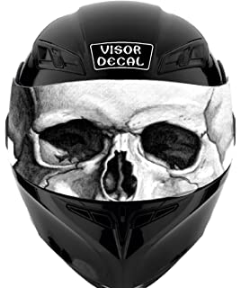V25 Skull VISOR TINT DECAL Graphic Sticker Helmet Fits: Icon Shoei Bell HJC Oneal Scorpion