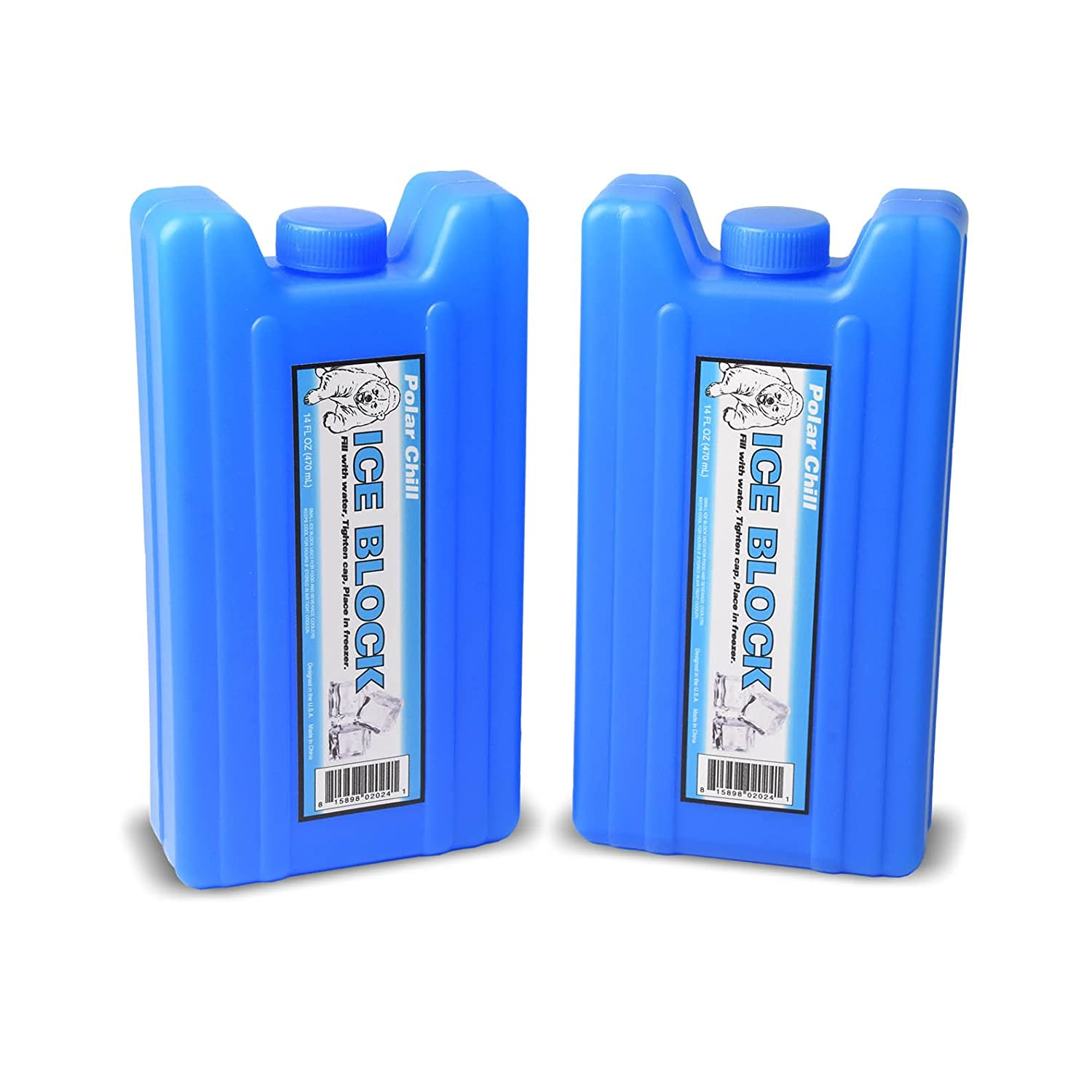 GoPong Sneak Alcohol Anywhere Ice Flask (2 Pack), Blue IPF-02