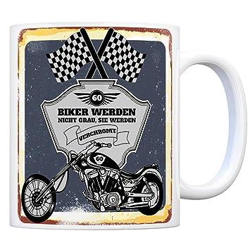 f827f7a49b1 trendaffe - Motorradfahrer und Biker Kaffeebecher BZW. Tasse zum 60.  Geburtstag als Geschenk