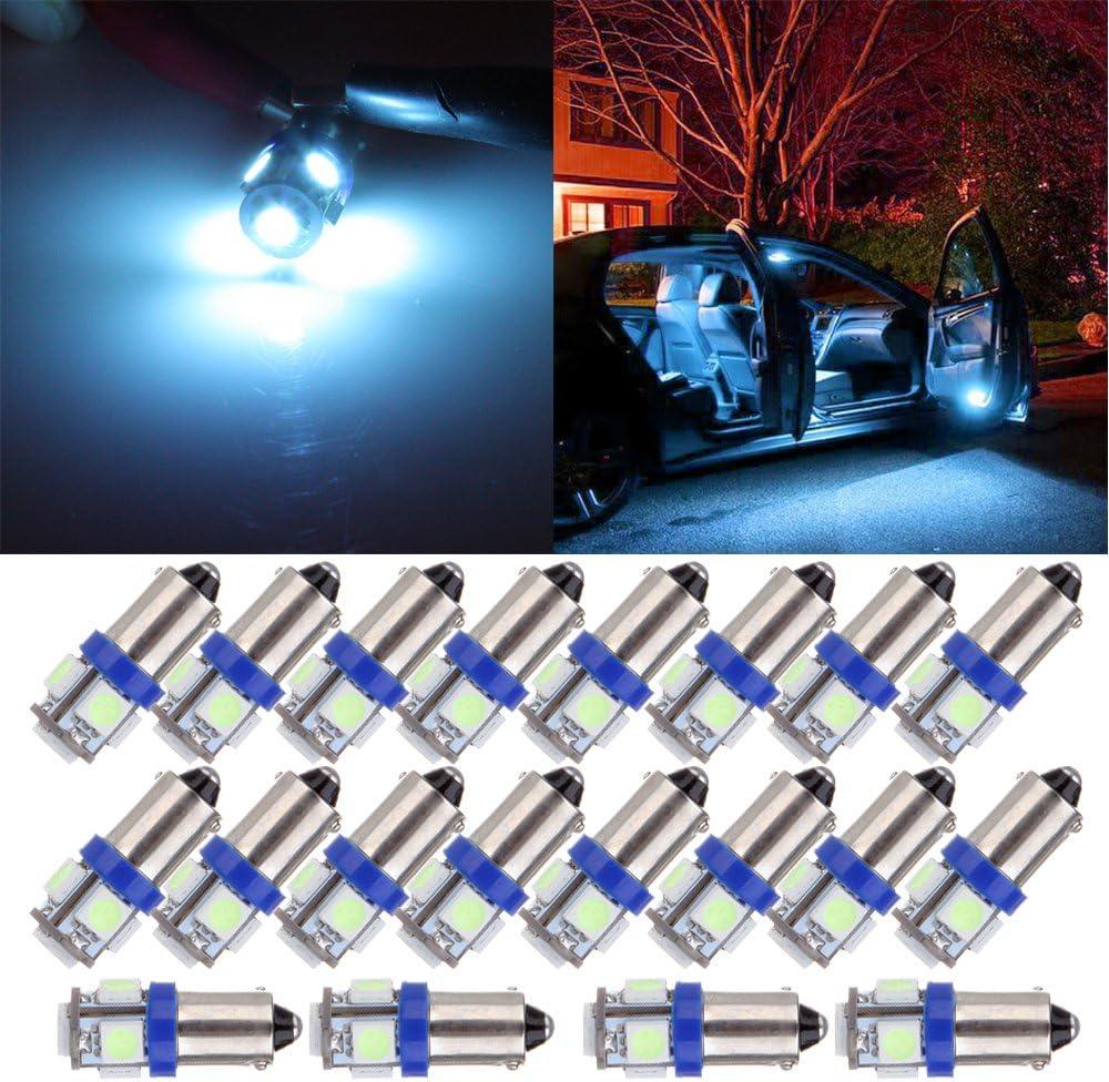 SCITOO 20Pcs BA9S Dash Light Bulbs 1895 64111 Instrument Gauge Cluster Light Bulbs Speedometer Gauge Cluster Lights