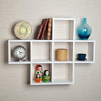 Danya B  Cubby White Laminate Display Wall Shelf. Amazon com  Danya B  Cubby White Laminate Display Wall Shelf  Home