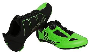 MSC Bikes Aero Road Zapatillas Ciclismo, Verde, T-44: Amazon.es: Deportes y aire libre