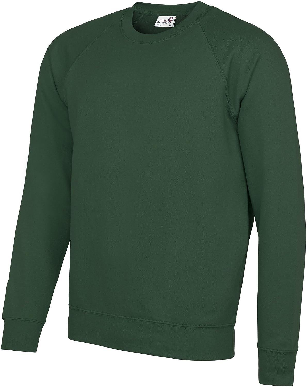 M Awdis Academy Childrens//Kids Crew Neck Raglan School Sweatshirt Charcoal