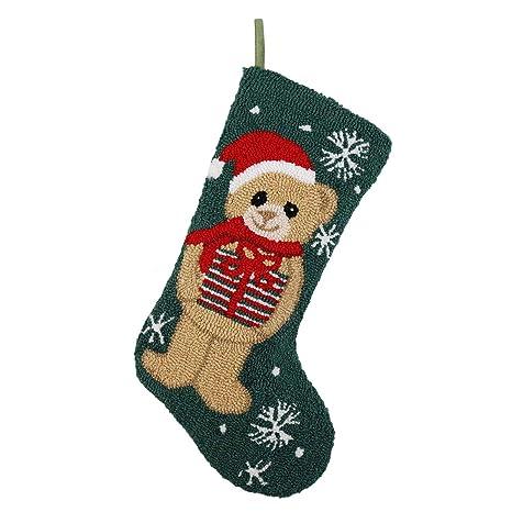 Crochet Christmas Stocking Pattern.Alice Doria 21 Hooked Crochet Christmas Stocking With Christmas Bear Pattern