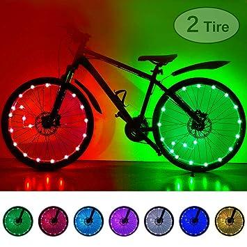 Color You Rueda de Bicicleta Luces 7 Colores Intercambiables Rueda de Bicicleta Colorida Rueda Radiante Luz Llanta de Bicicleta Luces para ni/ños peque/ños Adultos Accesorios para Bicicletas