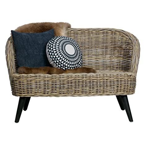 2 posti in rattan divano Sara 127 cm giardino divano lounge Lounge ...