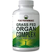 Grass Fed Beef Organ Complex (180 Capsules) by Peak Performance. Desiccated Organs Superfood Pills Rich in Antioxidants…