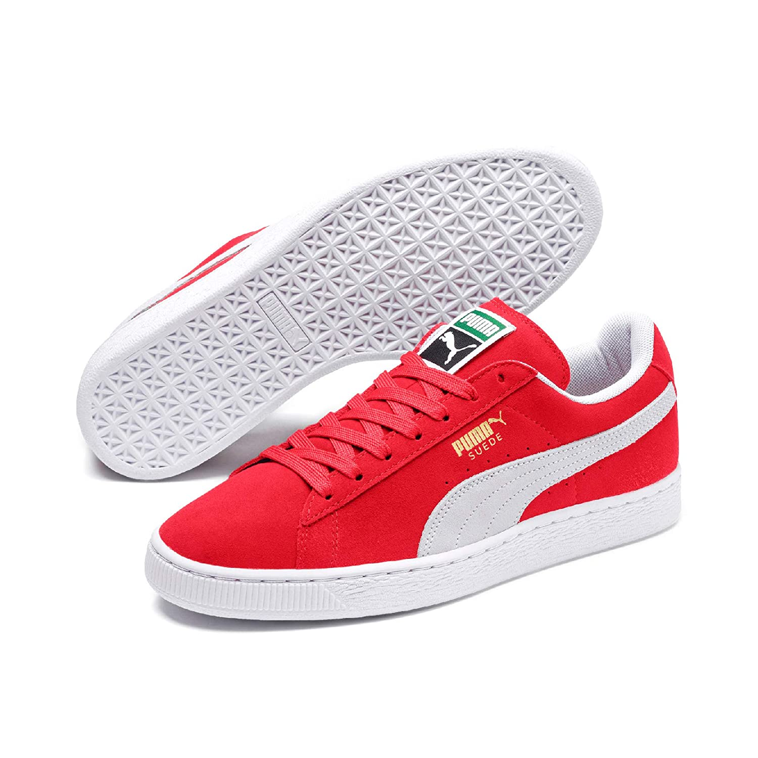 uk availability e42f7 9c7ef Puma Suede Classic+, Unisex Adults Low-Top Trainers, Red (Red/White 05), 6  UK (39 EU)