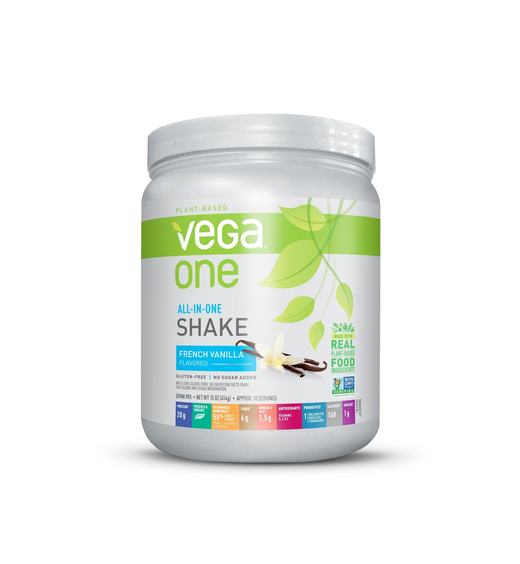 Vega One All-In-One Plant Based Protein Powder, French Vanilla, 0.94 lb, 10 Servings