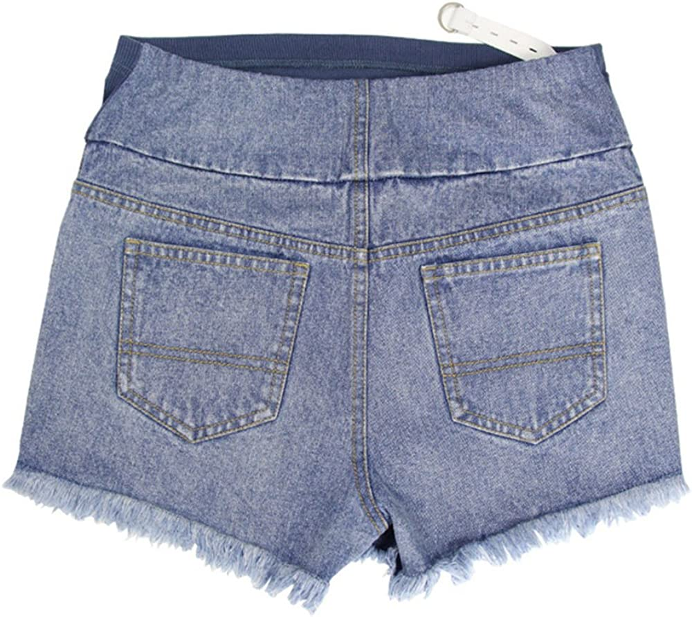 2018 Estate Broken Hole Tassel Design Pantaloncini maternit/à Cintura Regolabile Cura Pantaloncini Jeans Corti