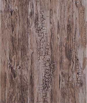 Wood Grain Wallpaper Distressed Wood Plank Self Adhesive Wallpaper Vintage Peel And Stick Wallpaper Rustic Wood Removable Wallpaper Wood Look Paper Reclaimed Wooden Wall Paper Vinyl Brown Texture Roll Amazon Com
