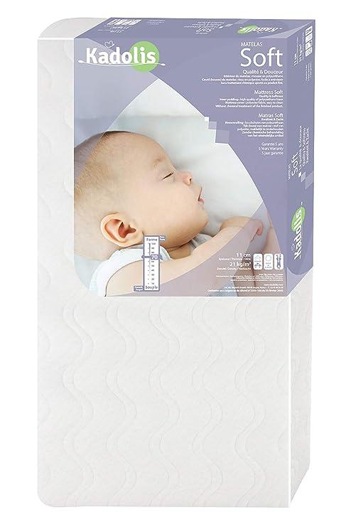 Bebé colchones blandos blanco blanco Talla:cama de 60 x 120 cm
