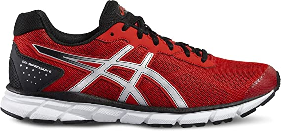 ASICS GEL IMPRESSION 9 ROJO Y PLATA T6F1N 2393: Amazon.es ...