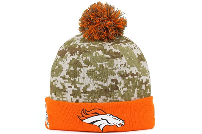 60f5d142c New Era Men s NFL 2015 Denver Broncos Salute to Service Knit Hat Digi Camo  Size One