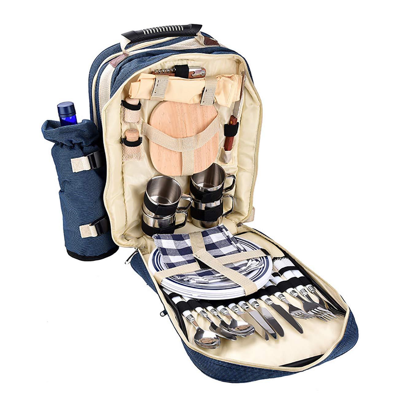 JMsDream Tableware Cooler Backpack Bag Pack for Outdoor Camping Hiking Picnic Heat Preservation