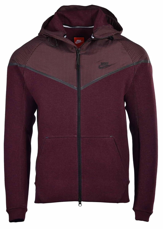 3d054baf58fe Amazon.com Nike Mens Tech Windrunner Reflective 3MM Sport Casual Jacket -Maroon-XL